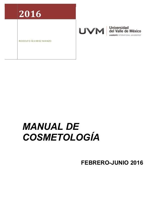 Manual cosmetología