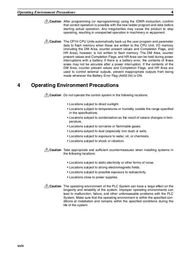 omron plc instruction manual