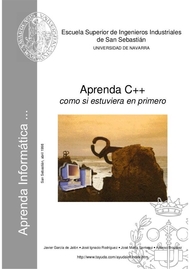 Escuela Superior de Ingenieros Industriales                                            de San Sebastián                   ...