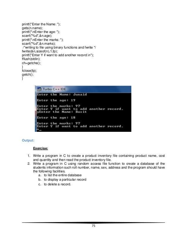 Fwrite append binary