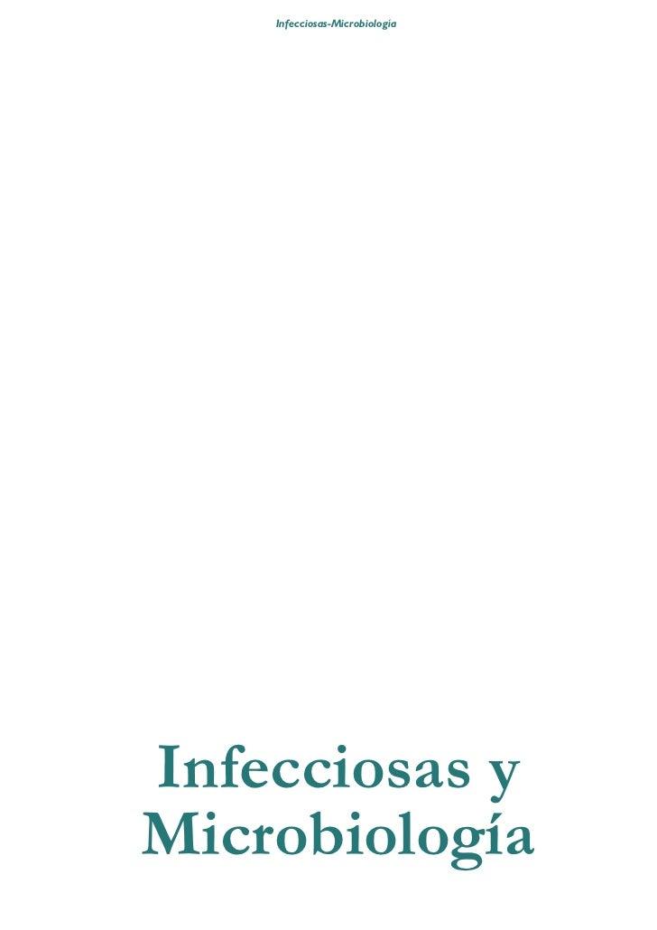 Infecciosas-Microbiología     Infecciosas y Microbiología