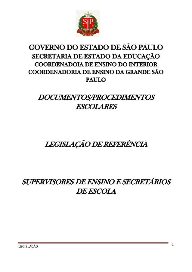 GOVERNO DO ESTADO DE SÃO PAULO SECRETARIA DE ESTADO DA EDUCAÇÃO COORDENADOIA DE ENSINO DO INTERIOR COORDENADORIA DE ENSINO...