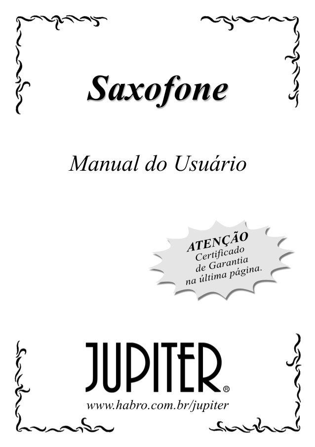 Manual da familia saxofones jupiter (português)