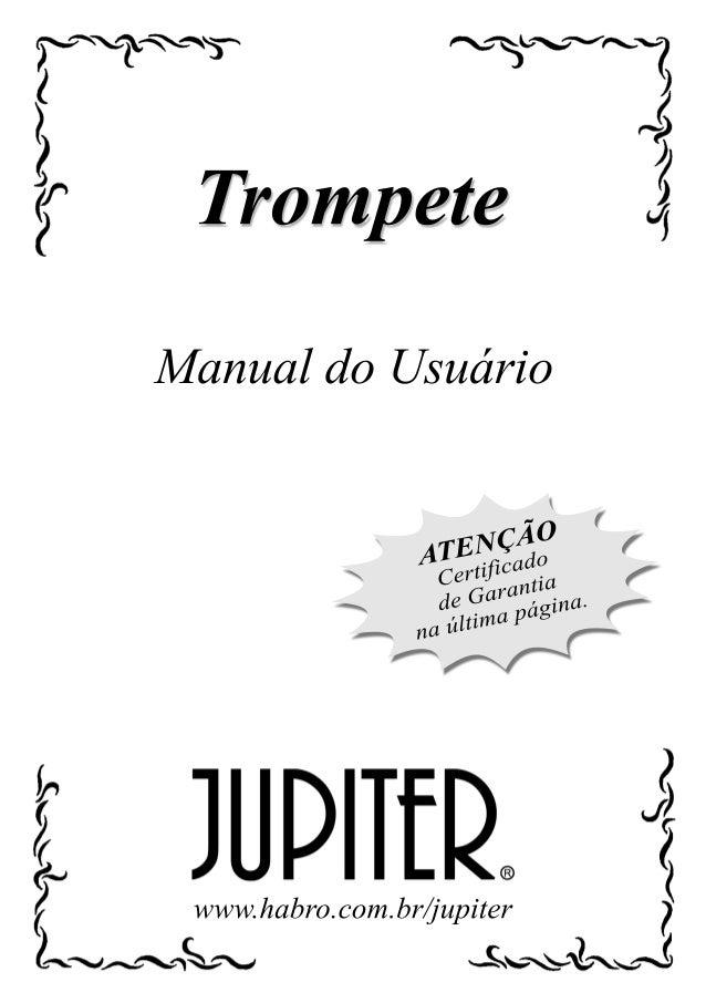 Manual da familia trompetes jupiter (português)