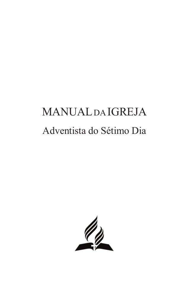 Manualda Igreja Adventista do Sétimo Dia