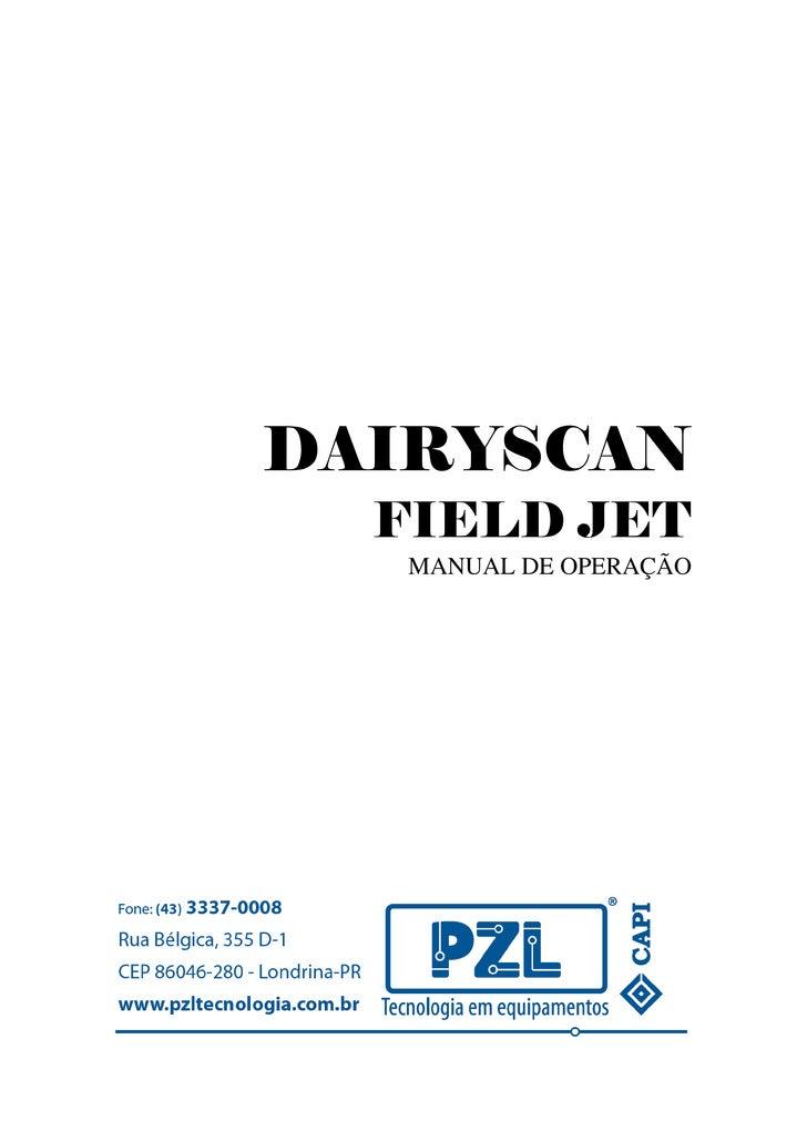 DAIRYSCAN  FIELD JET   MANUAL DE OPERAÇÃO