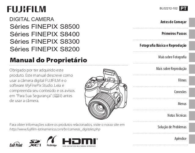 Obrigado por ter adquirido este produto. Este manual descreve como usar a câmera digital FUJIFILM e o software MyFinePix S...