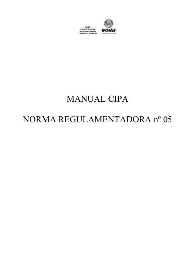 MANUAL CIPANORMA REGULAMENTADORA nº 05