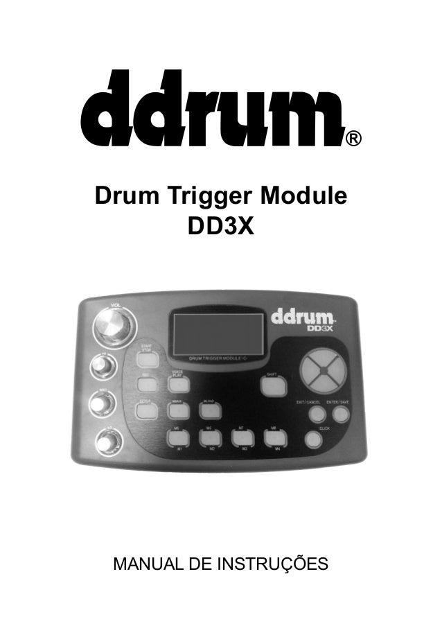 Drum Trigger Module DD3X  MANUAL DE INSTRUÇÕES