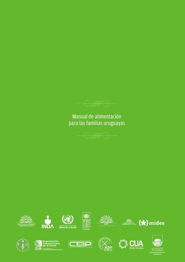 Manual de alimentación para las familias uruguayas                                      Manual de alimentación            ...
