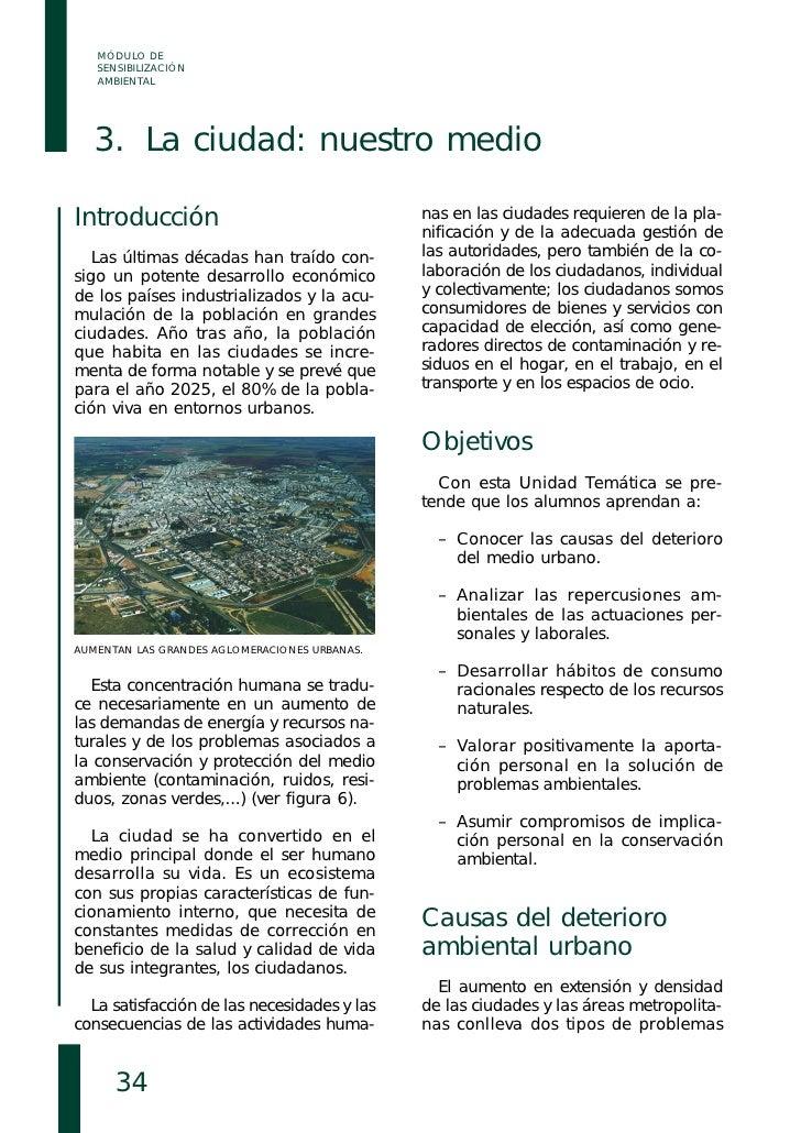 MÓDULO DE    SENSIBILIZACIÓN    AMBIENTAL        3. La ciudad: nuestro medio  Introducción                                ...