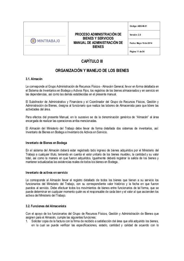 Manual de administracion de bienes for Registro de bienes muebles central