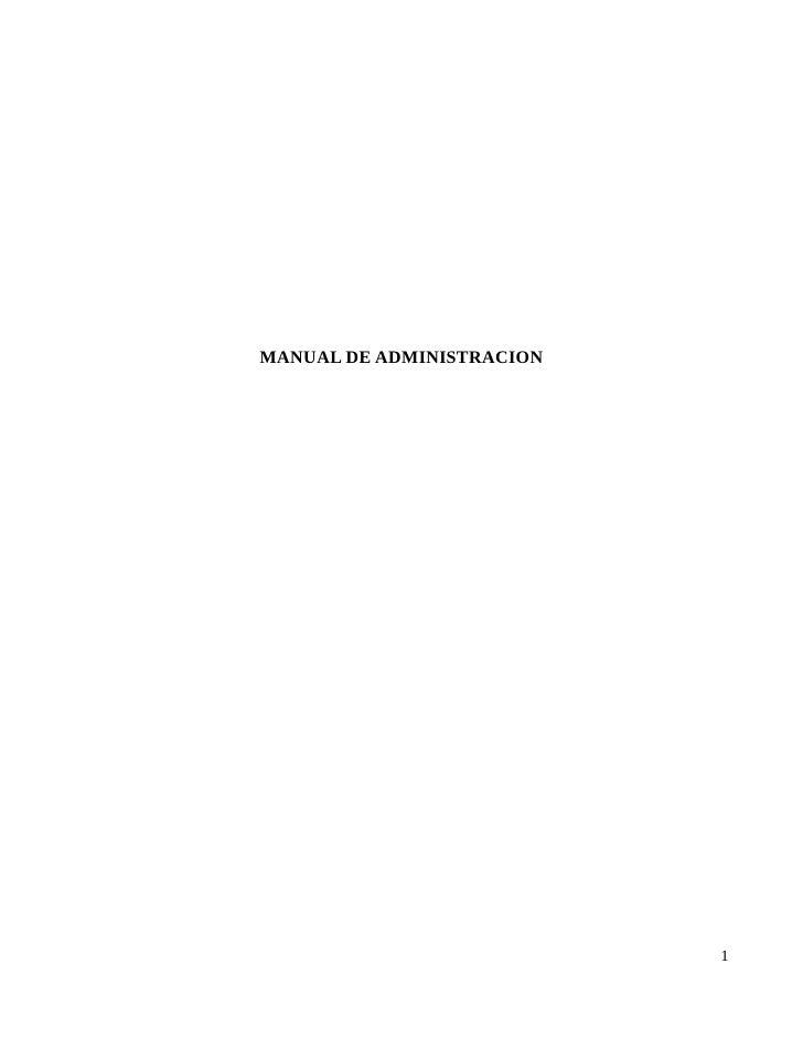 MANUAL DE ADMINISTRACION                                1