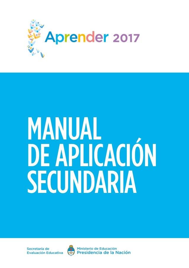 MANUAL DE APLICACIÓN SECUNDARIA