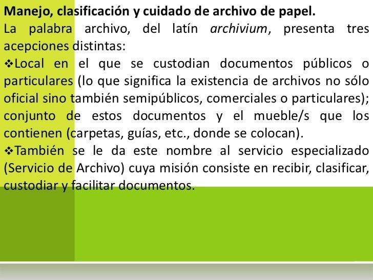 Manual de archivos II parte Slide 2