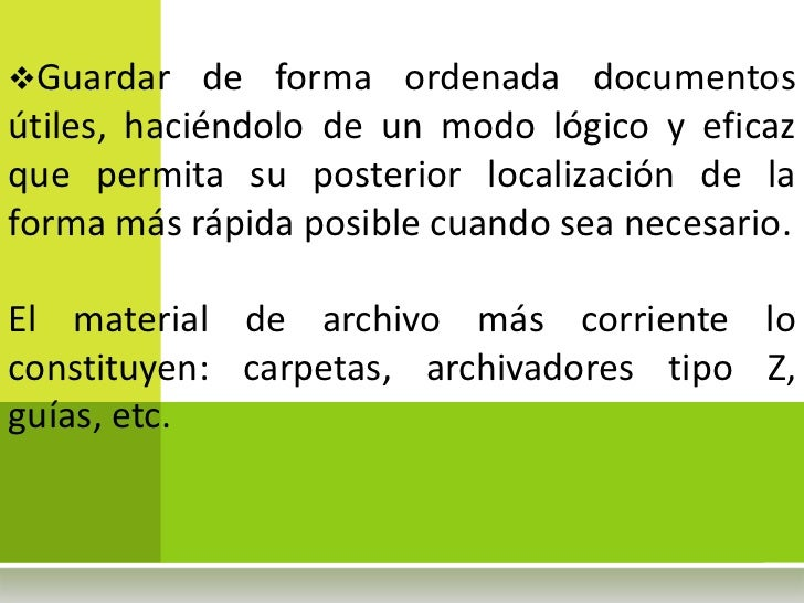 Manual de archivos II parte Slide 3