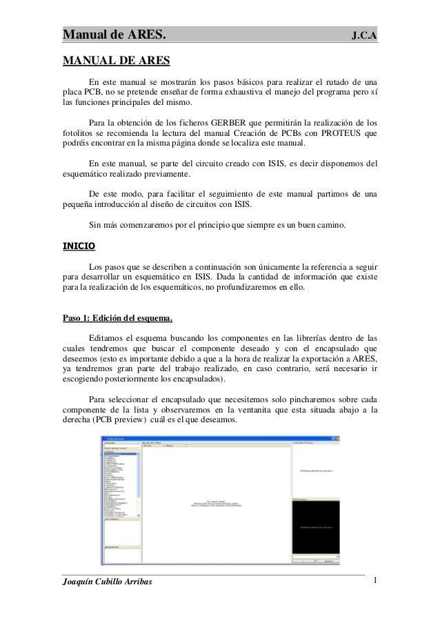 manual de ares proteus rh es slideshare net Proteus Bacteria Proteus Bacteria