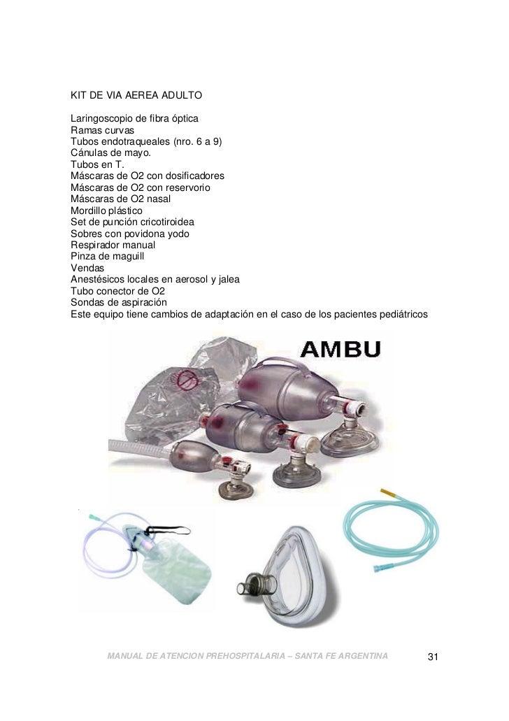Manual de Atención Prehospitalaria 2011.-