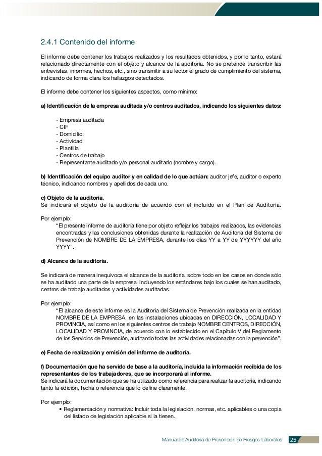 2.4.1 Contenido del informe El informe debe contener los trabajos realizados y los resultados obtenidos, y por lo tanto, e...