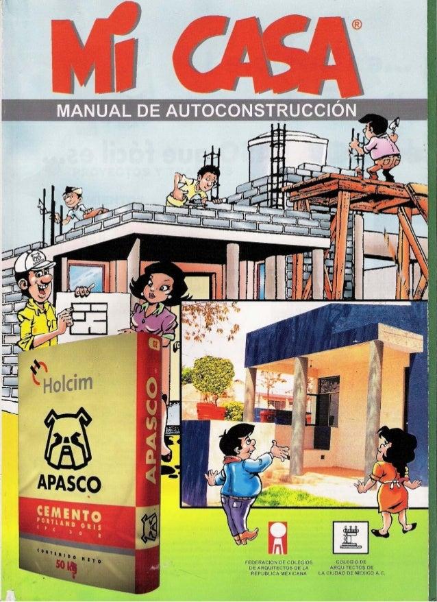 Manual de autoconstruccion mi casa apasco