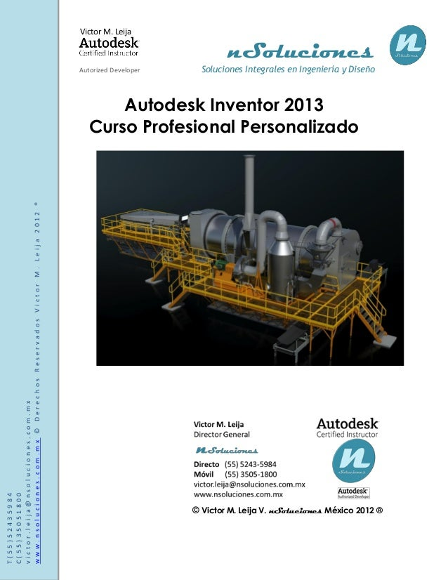 manual de autodesk inventor 2013 rh es slideshare net autodesk inventor 2014 tutorial book autodesk inventor 2016 manual pdf
