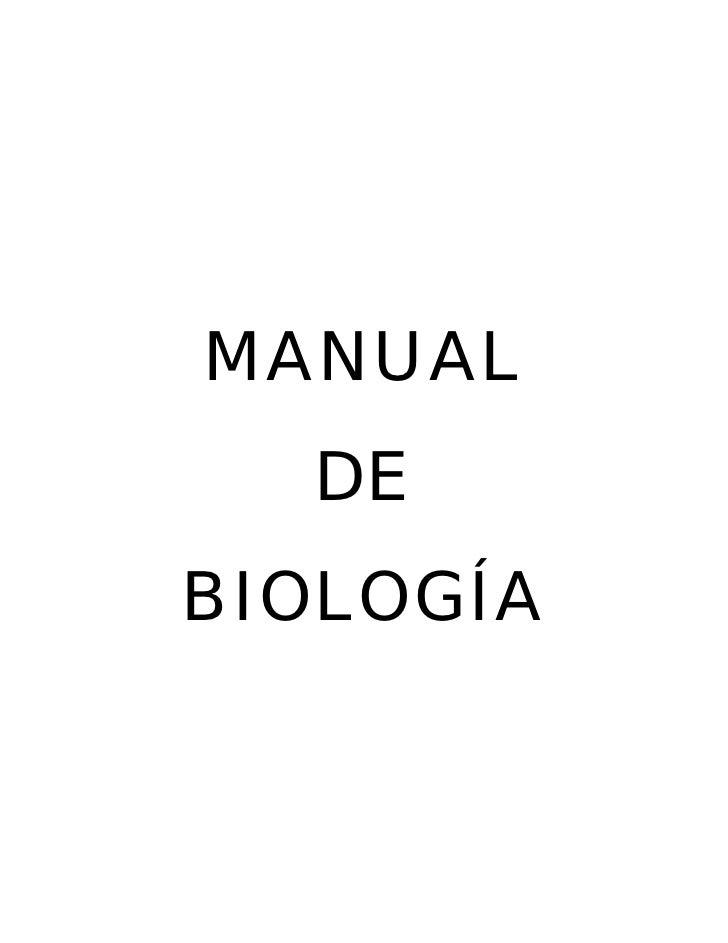 MANUAL  DEBIOLOGÍA