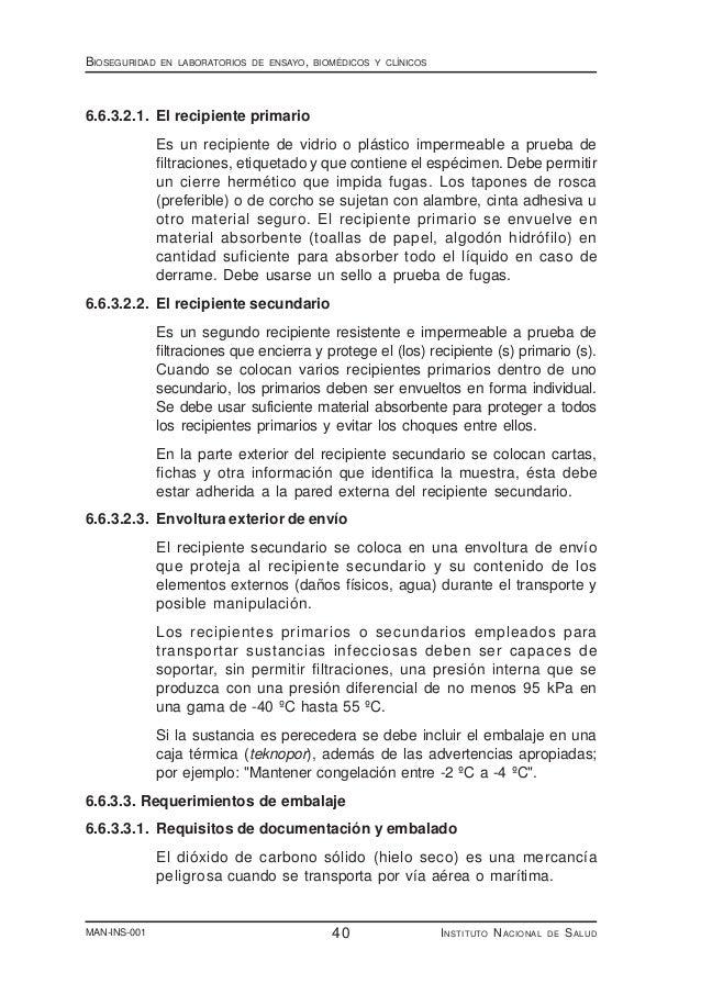 Manual de bioseguridad ins 2005 - Liquido preseminal vih casos ...