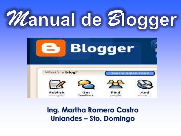 Ing. Martha Romero Castro Uniandes – Sto. Domingo