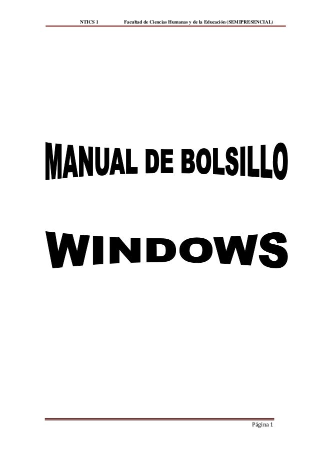 Manual de bolsillo windows