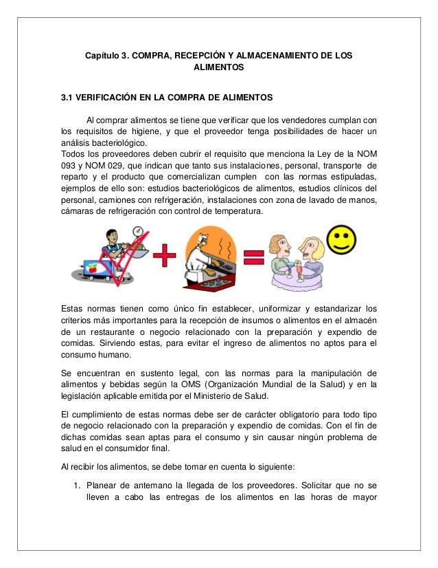 Manual de buenas practicas de higiene y sanidad Manual de compras de un restaurante pdf