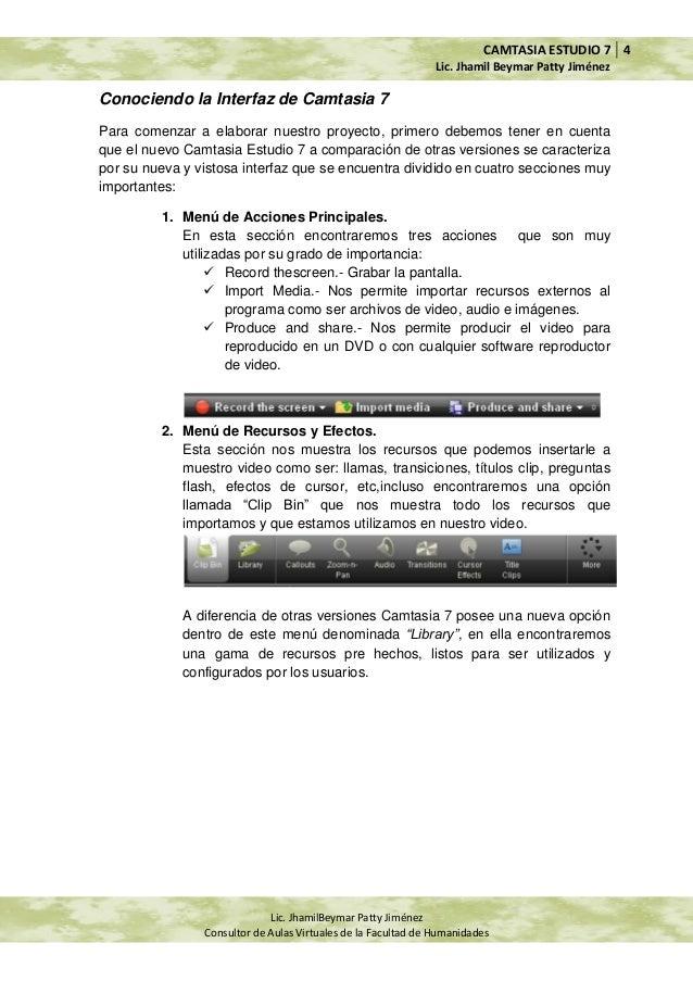 manual de camtasia estudio 7 rh es slideshare net manual de camtasia studio 8 en español pdf manual de camtasia