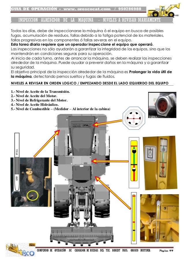 Manual de operacion de Cargador Frontal - Guia de oroscocat