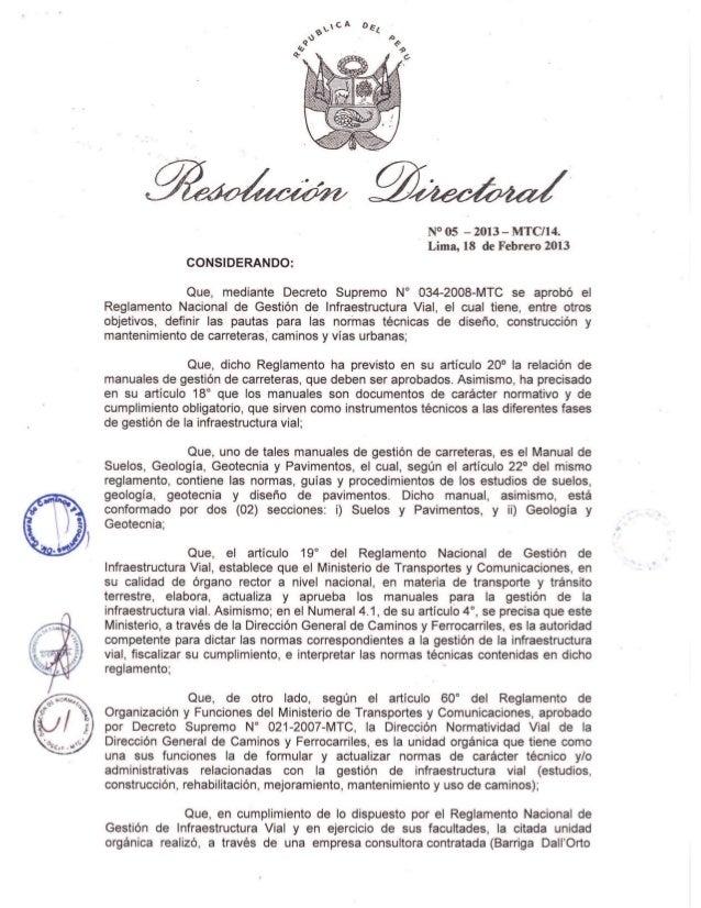 MANUAL DE CARRETERAS SUELOS, GEOLOGÍA, GEOTECNIA Y PAVIMENTOS  SECCIÓN SUELOS Y PAVIMENTOS  2013