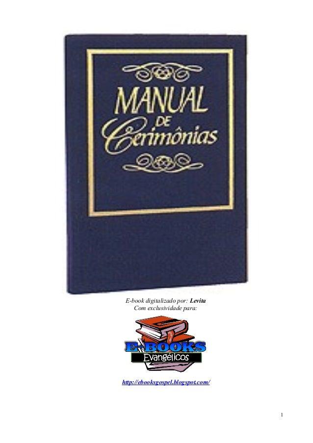 E-book digitalizado por: Levita Com exclusividade para: http://ebooksgospel.blogspot.com/ 1