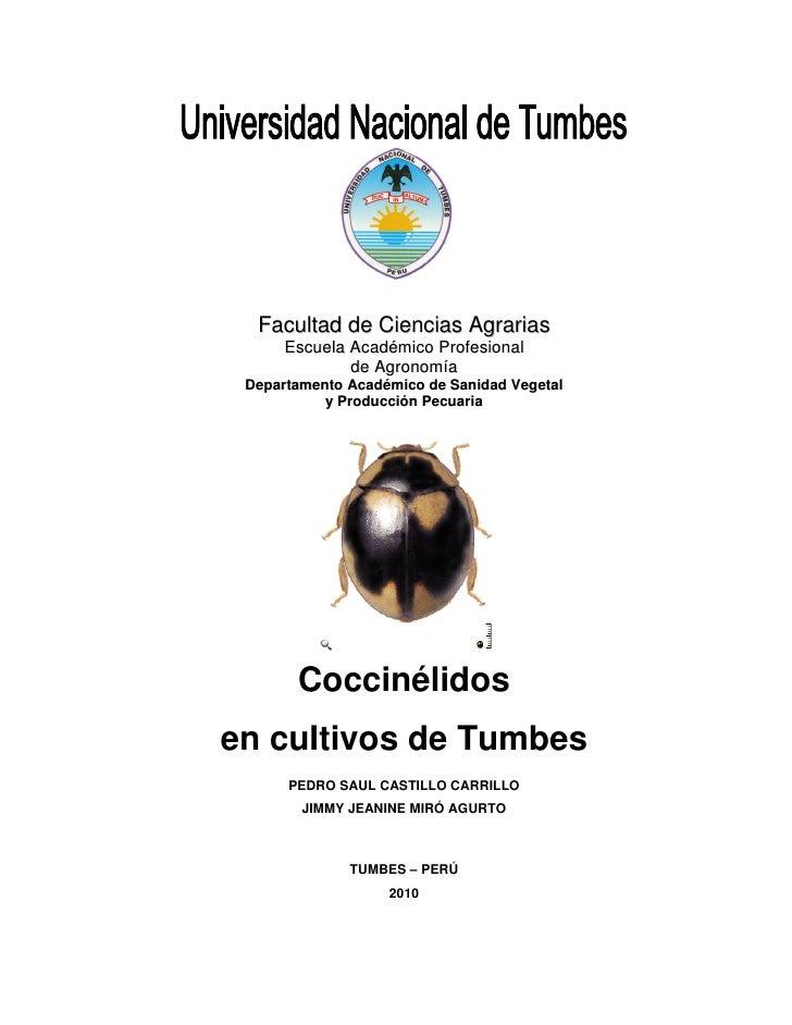 Faculltad de Ciencias Agrarias         t       Escuela Académico Profesional               de Agronomía  Departamento Acad...