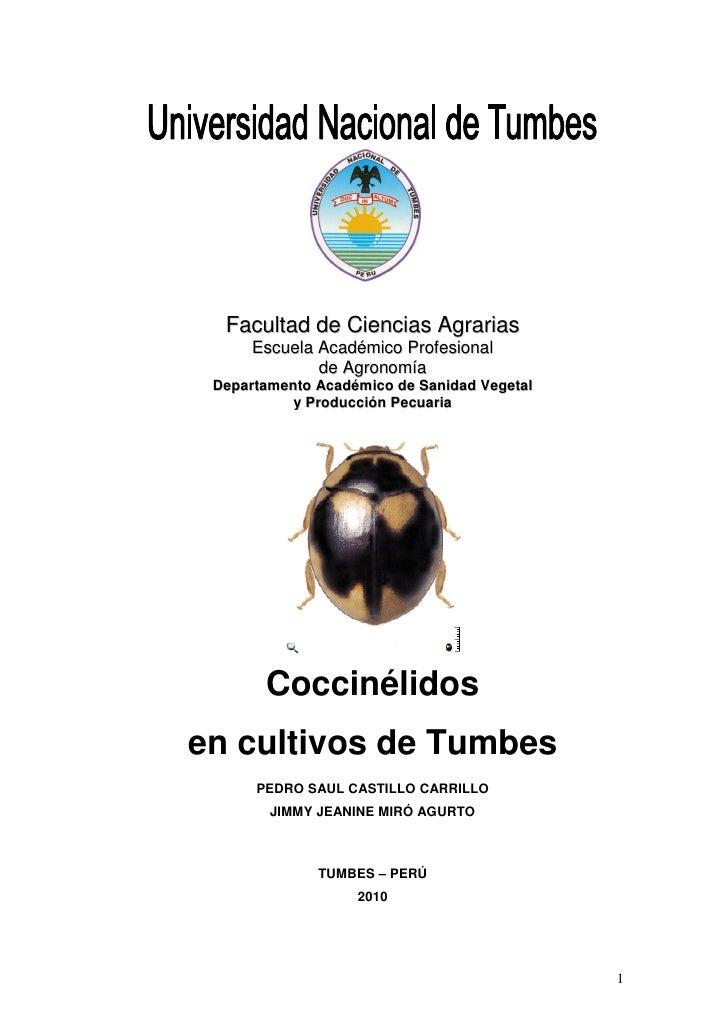 Facultad de Ciencias Agrarias       Escuela Académico Profesional               de Agronomía  Departamento Académico de Sa...