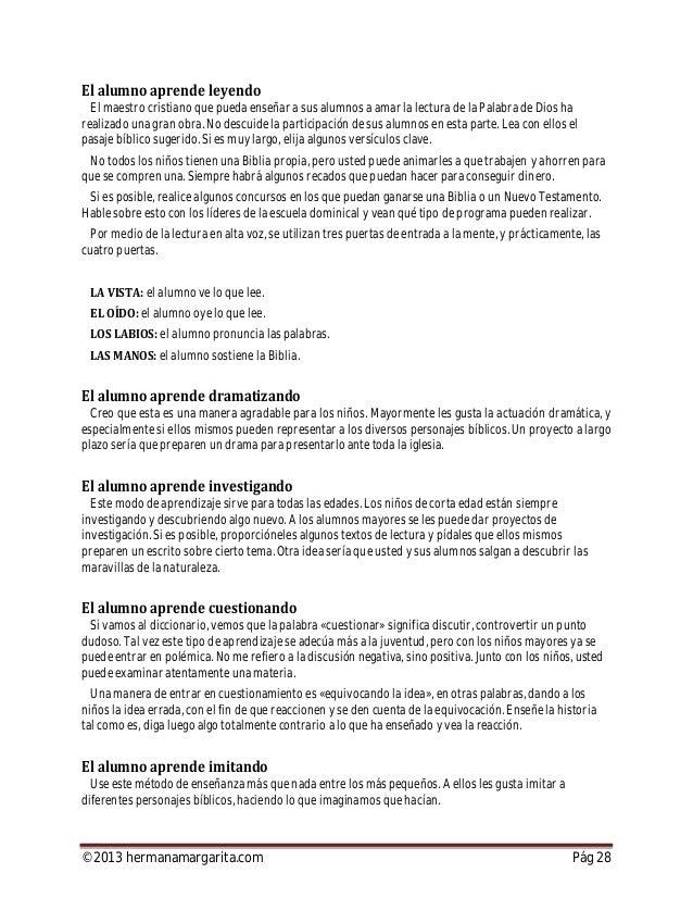 ©2013 hermanamargarita.com Pág 29 Para los mayorcitos, la imitación debe ser en forma más concreta y real. Es necesario qu...