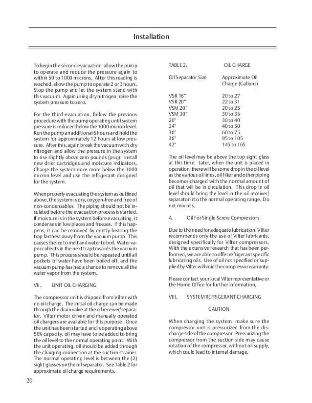 manual de compresor vilter vsr vss vsm rh slideshare net vilter ammonia compressor manual vilter 450xl compressor manual