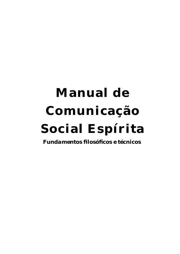 Manual de Comunicação Social Espirita