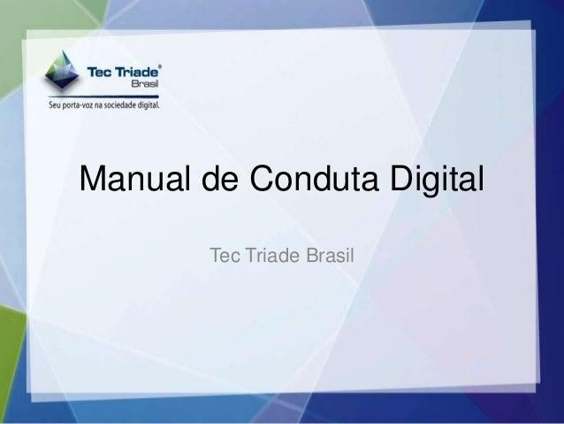 Manual de Conduta Digital Tec Triade Brasil