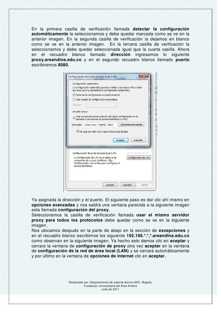 Manual de configuraci n proxy for Proxe vigila 3 manuale