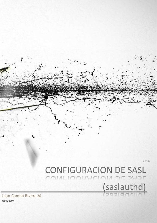CONFIGURACION DE SASL (saslauthd)