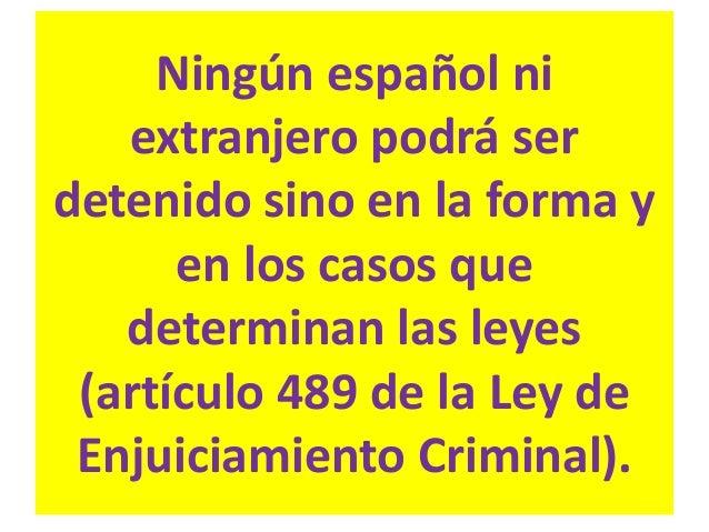 """No caben otras causas de detención, ni tampoco de """"retención"""". Según el Artículo 17 de la Constitución estaríamos en situa..."""