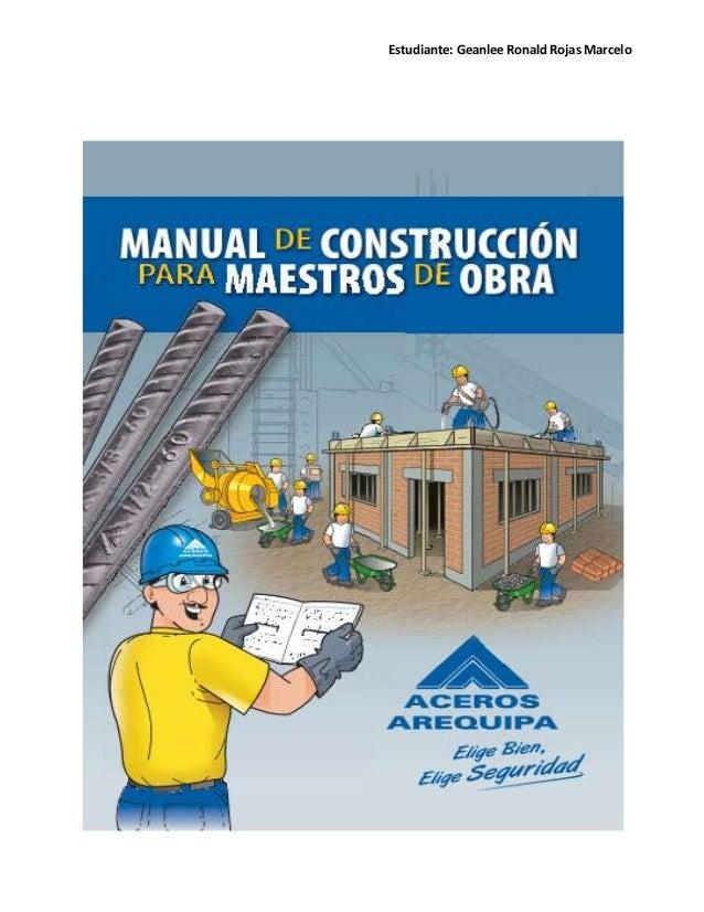 Manual de construcci n para maestros de obra for Manual de construccion