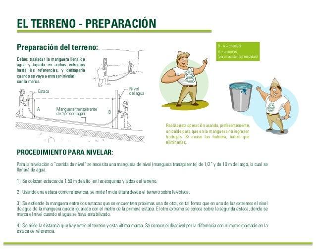 """Para la nivelación o """"corrida de nivel"""" se necesita una manguera de nivel (manguera transparente) de 1/2"""" y de 10 m de lar..."""