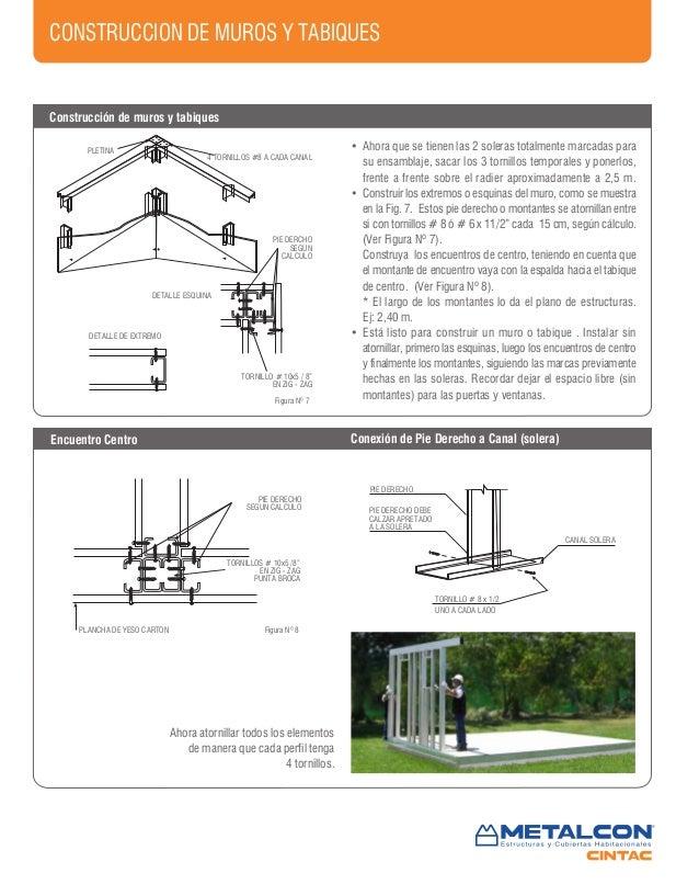 Manual De Construccion En Metalcon Cintac