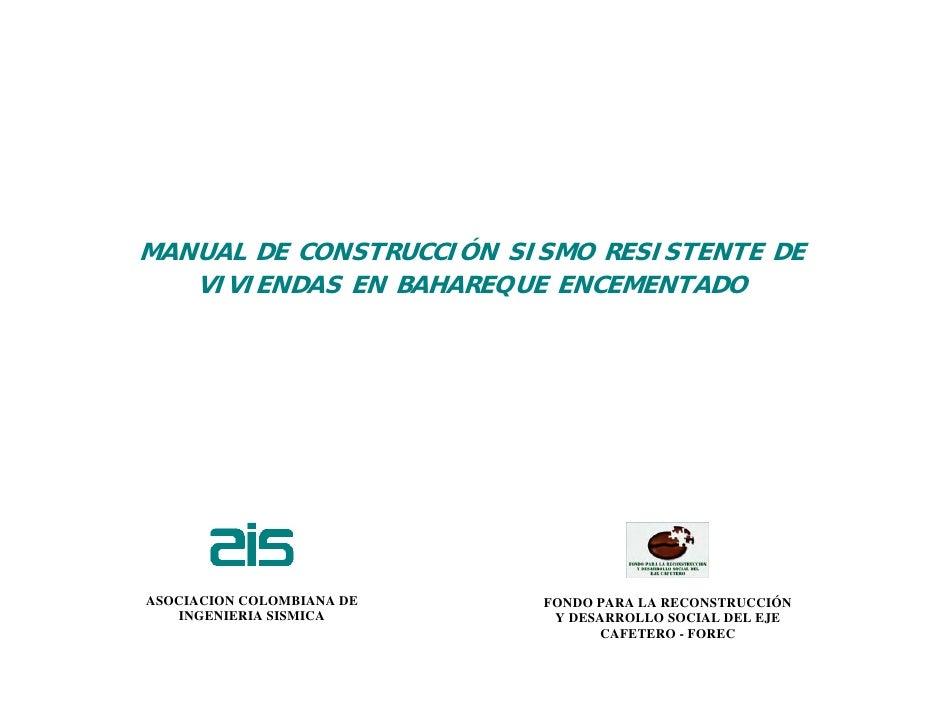 Manual de construccion sismo resistente for Manual de construccion
