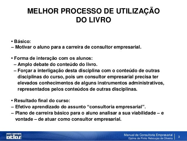 Manual de Consultoria Slide 3