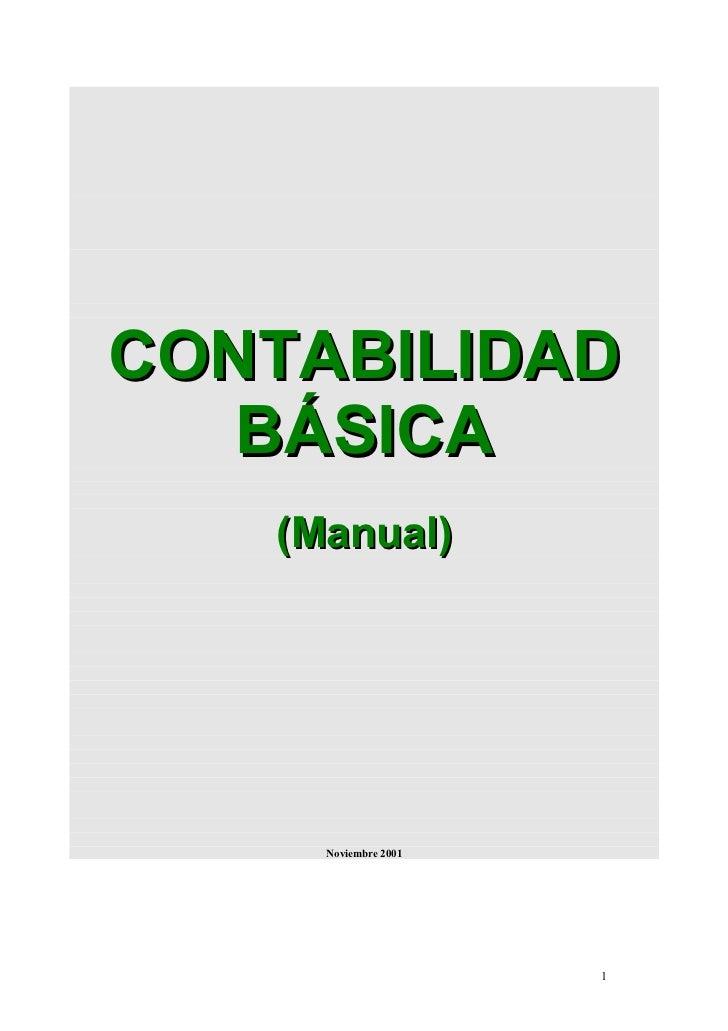 CONTABILIDAD   BÁSICA   (Manual)     Noviembre 2001                      1