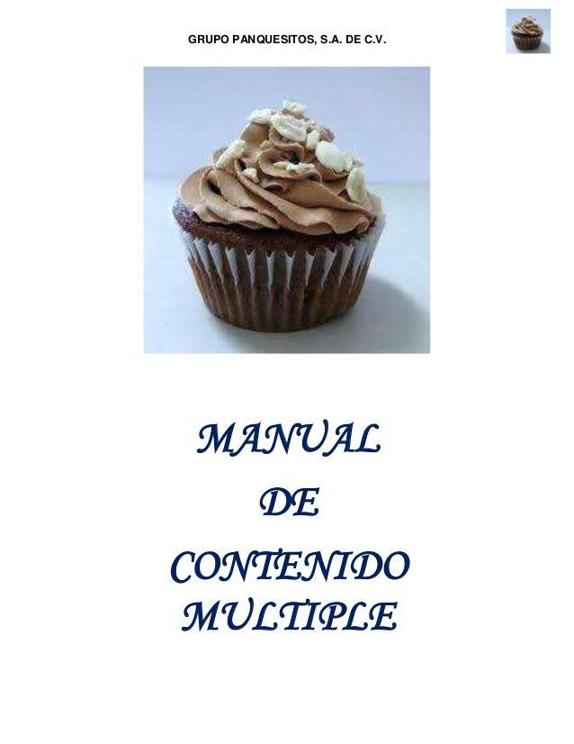 GRUPO PANQUESITOS, S.A. DE C.V.MANUALDECONTENIDOMULTIPLE